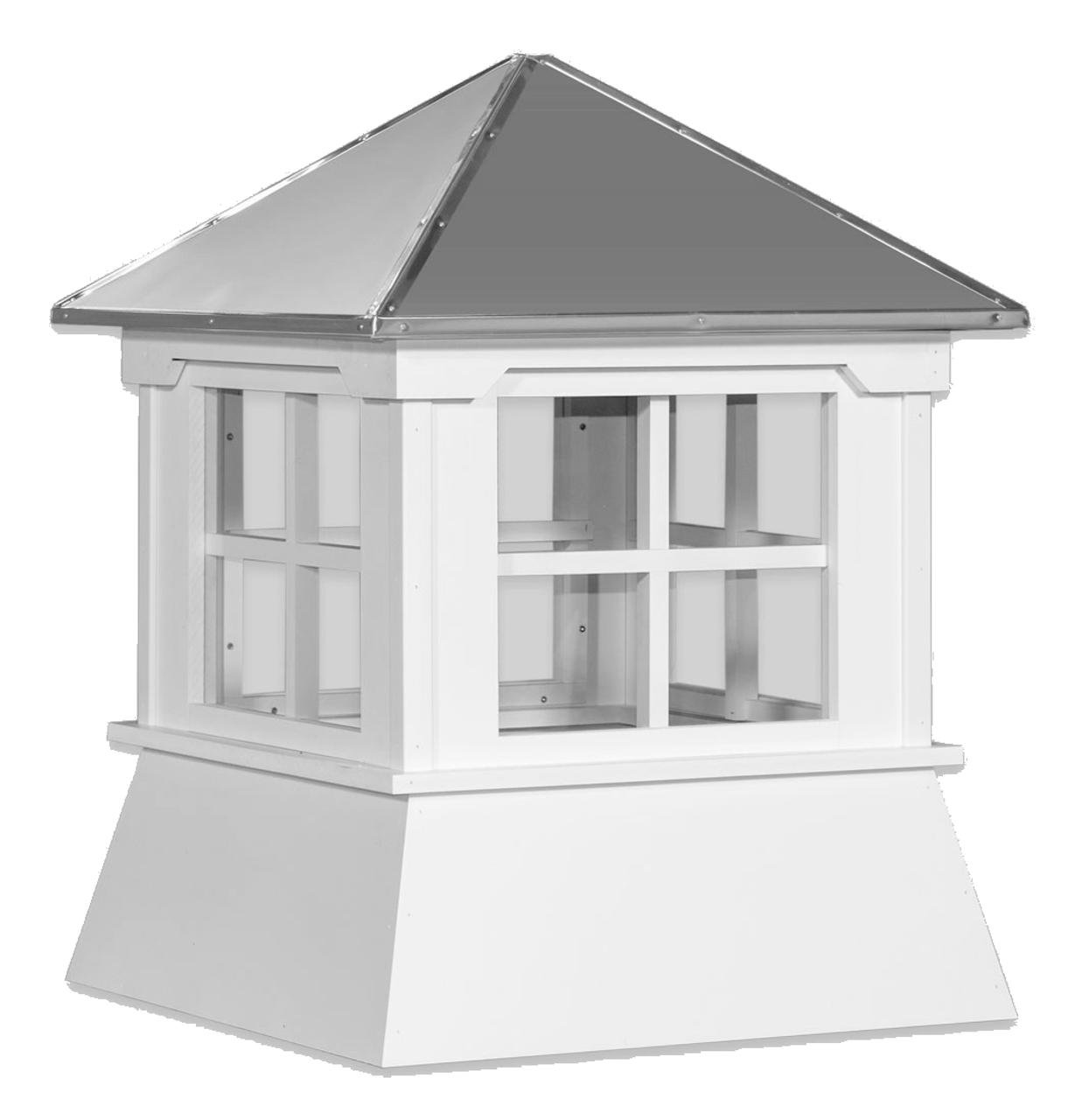 Cupola - Manor Shed: Azek – Windowed Metal Top - 30Lx30Wx36H