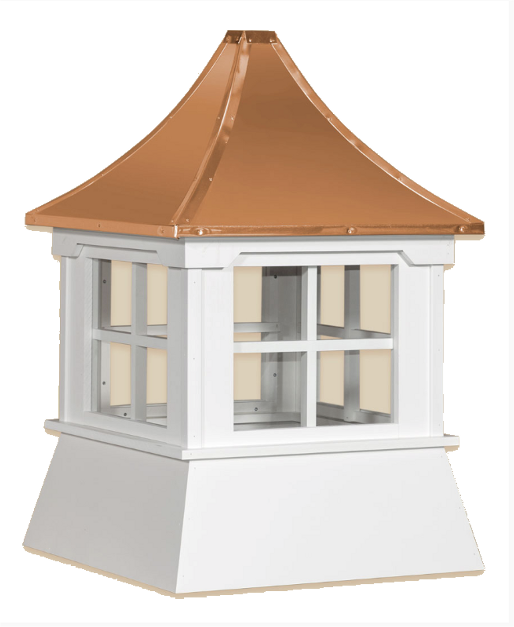 Cupola - Victorian Shed: Azek – Windowed Pagoda Copper Top - 30Lx30Wx36H