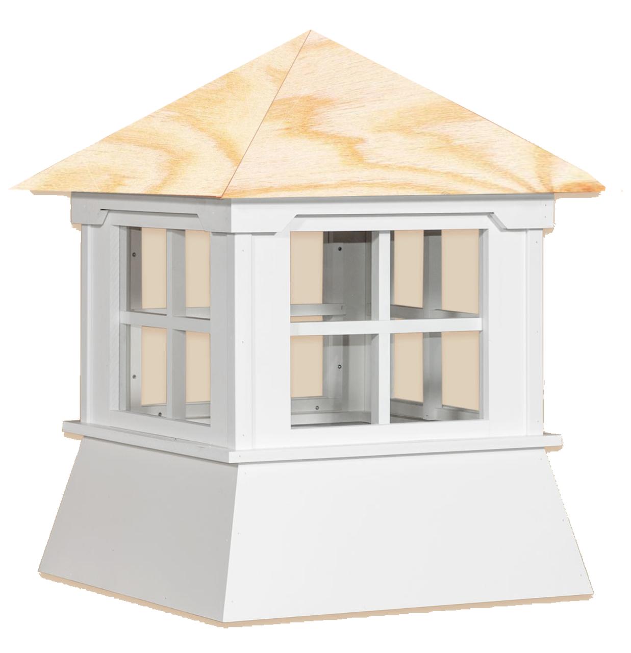 Cupola - Manor Shed: Azek – Windowed Wood Top - 30Lx30Wx36H