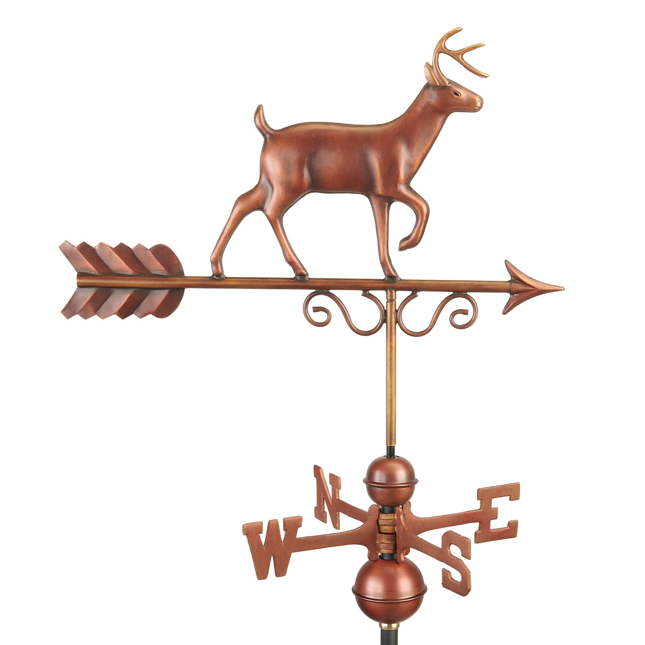 Proud Buck Weathervane - Pure Copper Hand Finished Bronze Patina by Good Directions