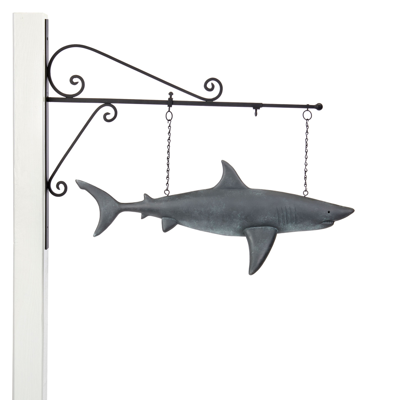 Shark Hanging Wall Sculpture - Pure Copper Hand Finished Multi-Color Patina - Nautical Home Décor by Good Directions