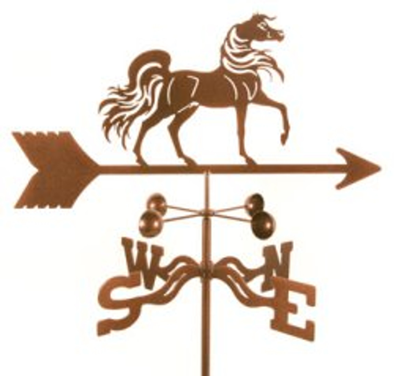 Horse-Arabian Horse Weathervane With Mount