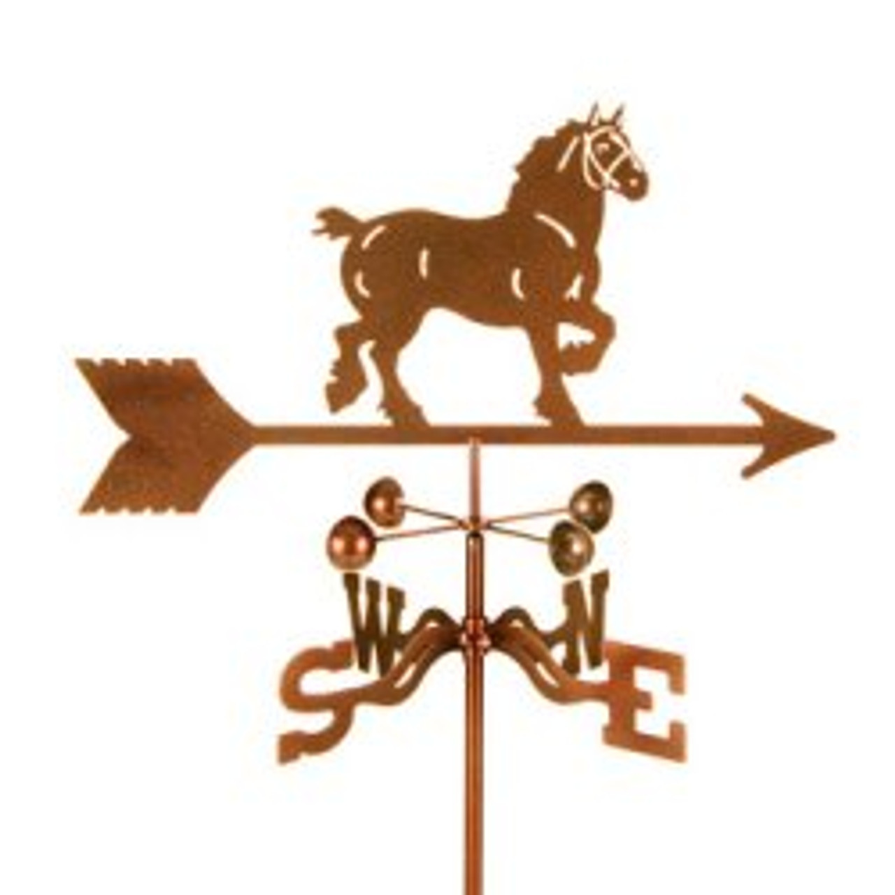 Horse-Draft Weathervane With Mount