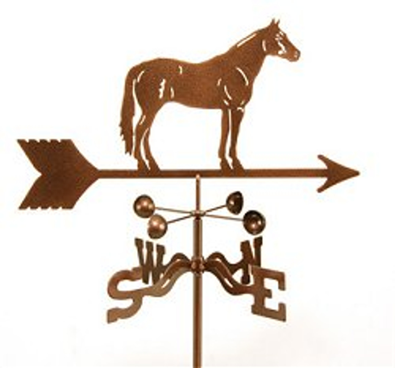 Horse-Quarter Horse Weathervane With Mount