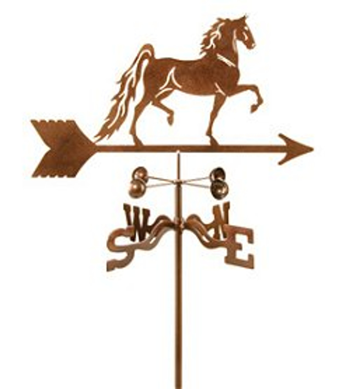 Horse-Saddlebred Horse Weathervane With Mount