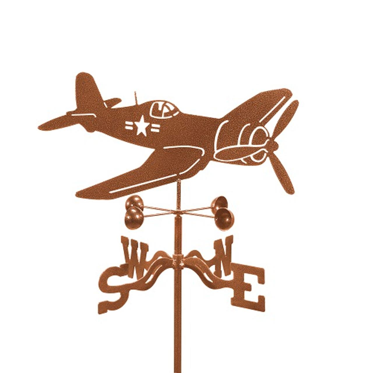 Airplane-Corsair Weathervane With Mount
