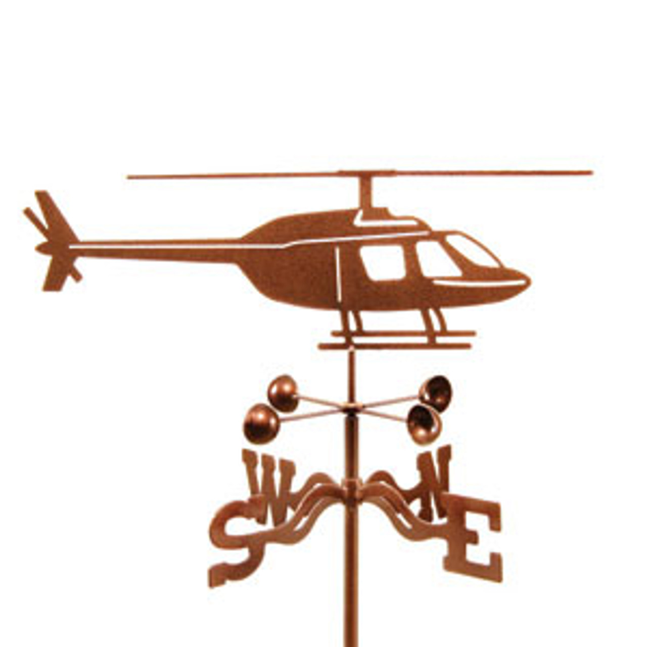 Bell Jet Ranger Helicopter Weathervane With Mount