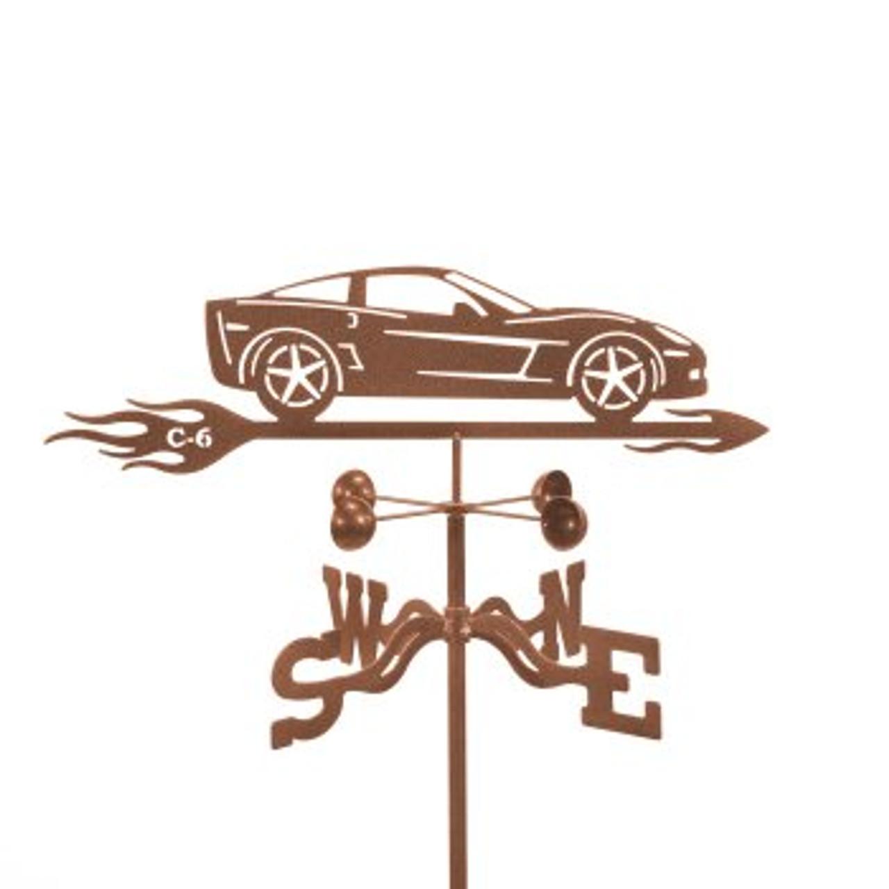 Car-Corvette C6 Weathervane With Mount