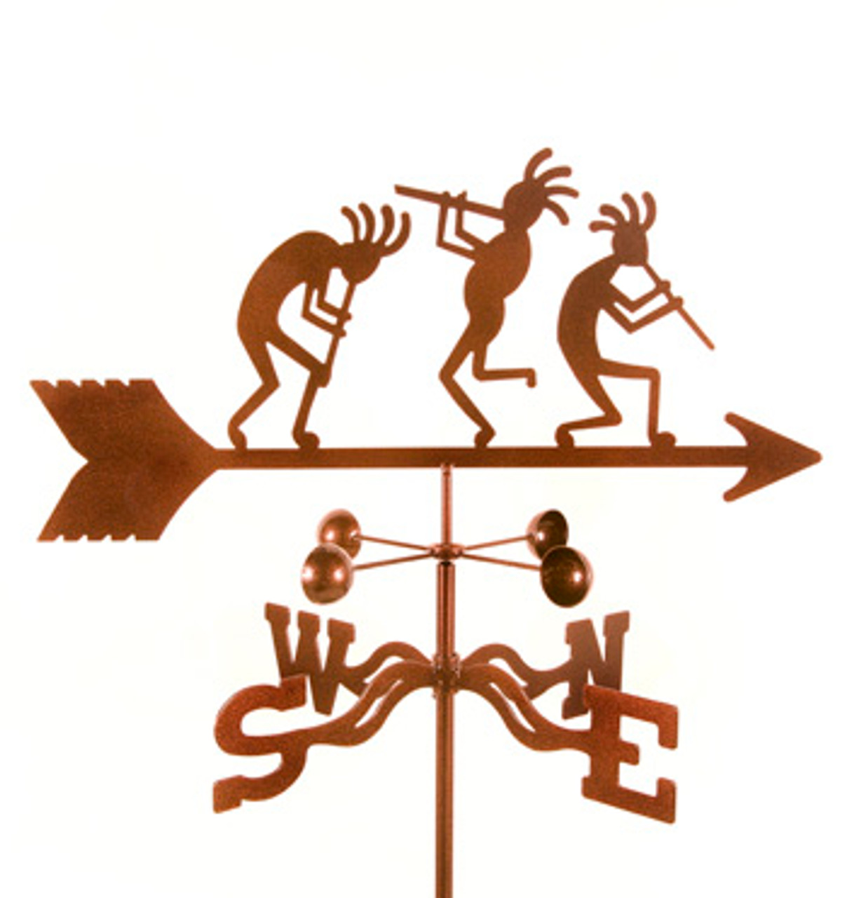 Kokopelli Weathervane With Mount