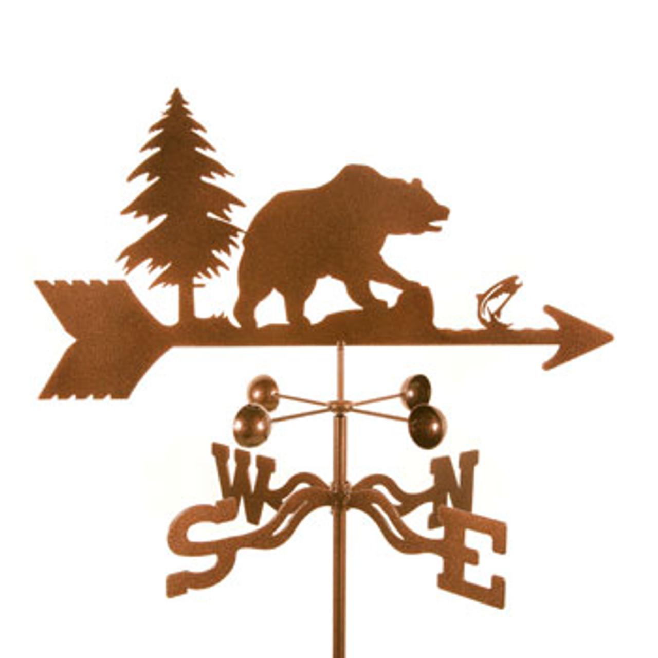 Bear Weathervane With Mount