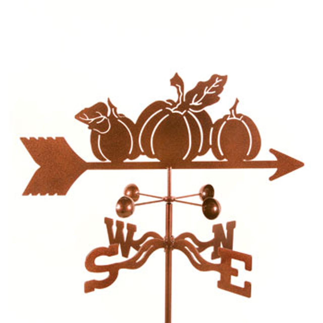 Pumpkins Weathervane With Mount