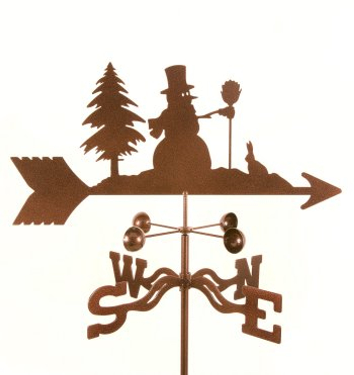 Snowman Weathervane With Mount