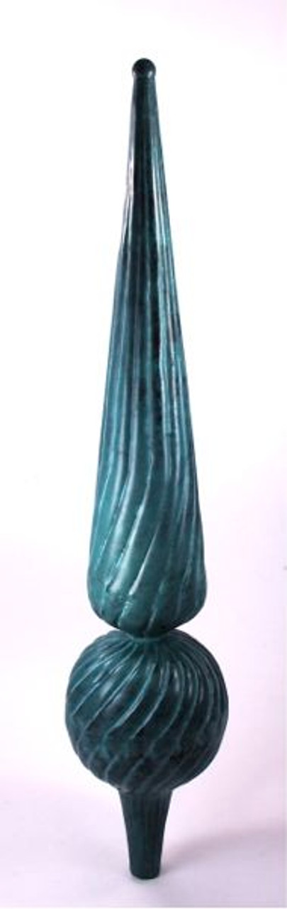 Finial - Medium Florentine- Verdigris
