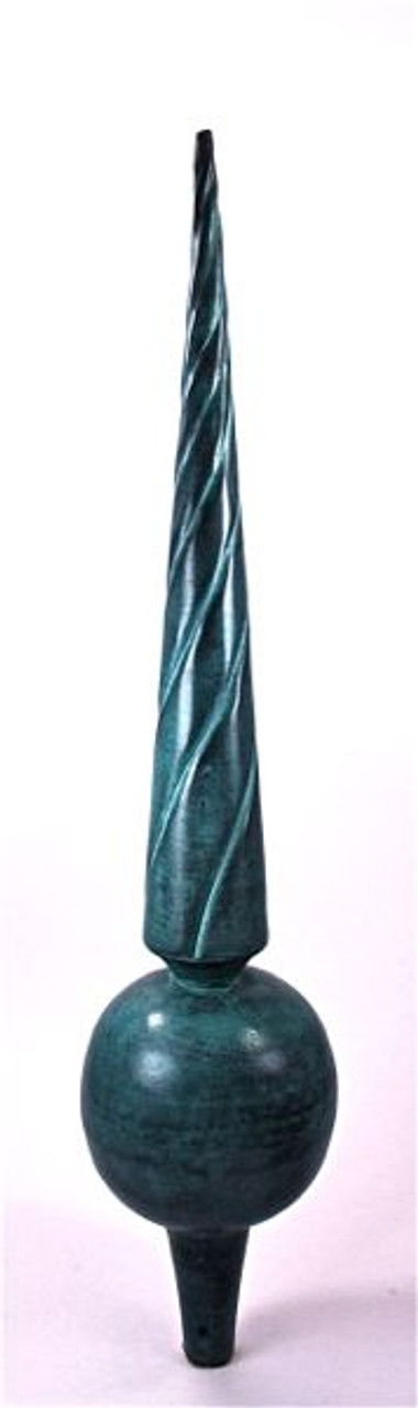 Finial - Medium Venetian- Verdigris