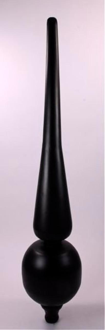 Finial - Mini Roman- Black Matte