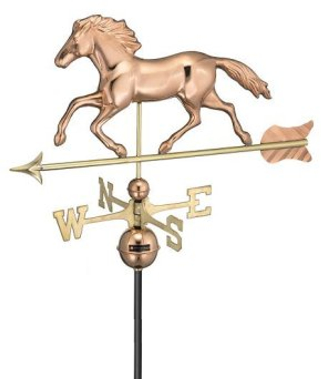 Good Directions Smithsonian 952P Running Horse Weathervane - Polished Copper
