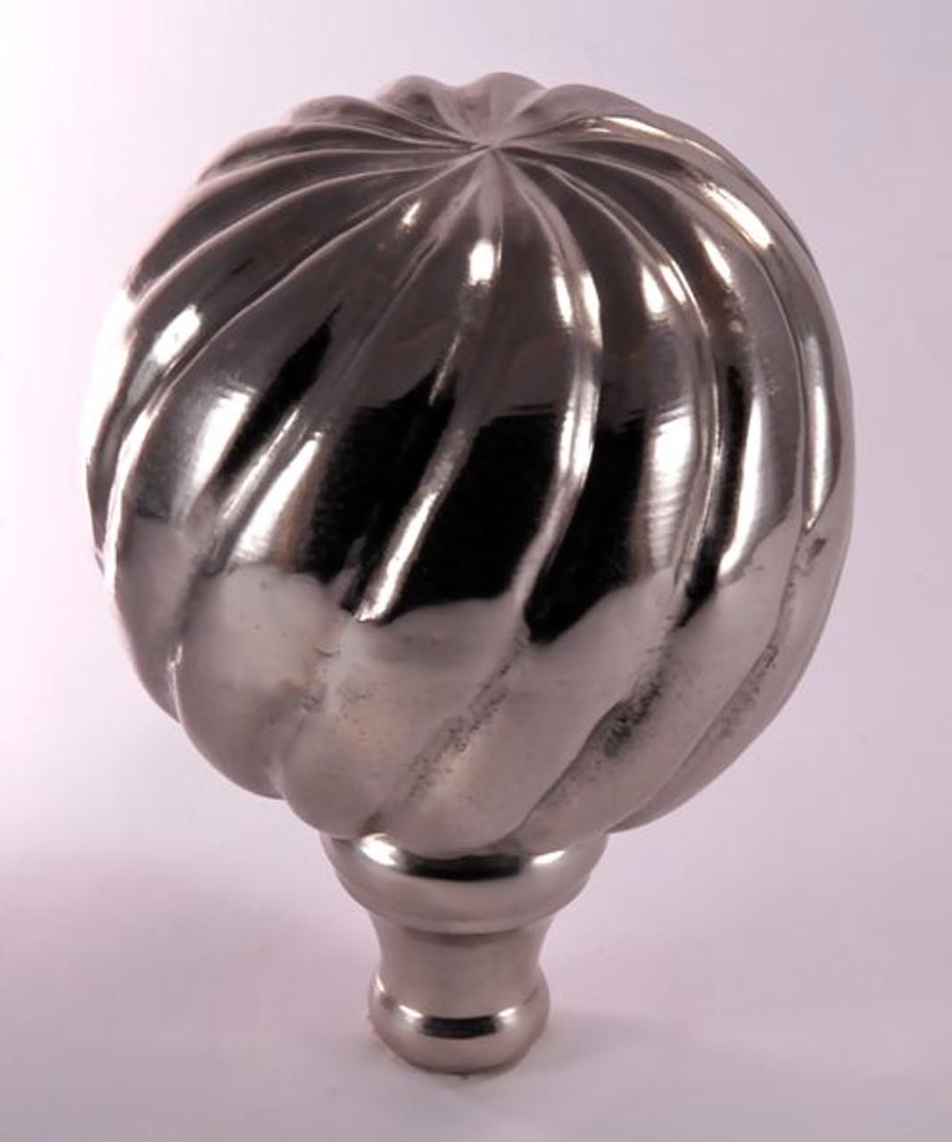 Finial - Small Parisian- Nickel Brushed