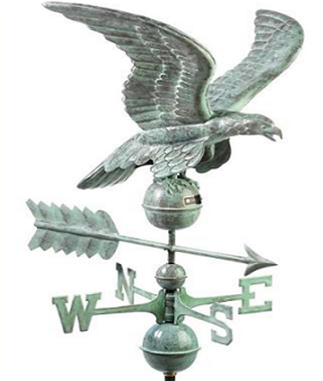 Good Directions Smithsonian 955V1 Eagle Weathervane - Blue Verde Copper