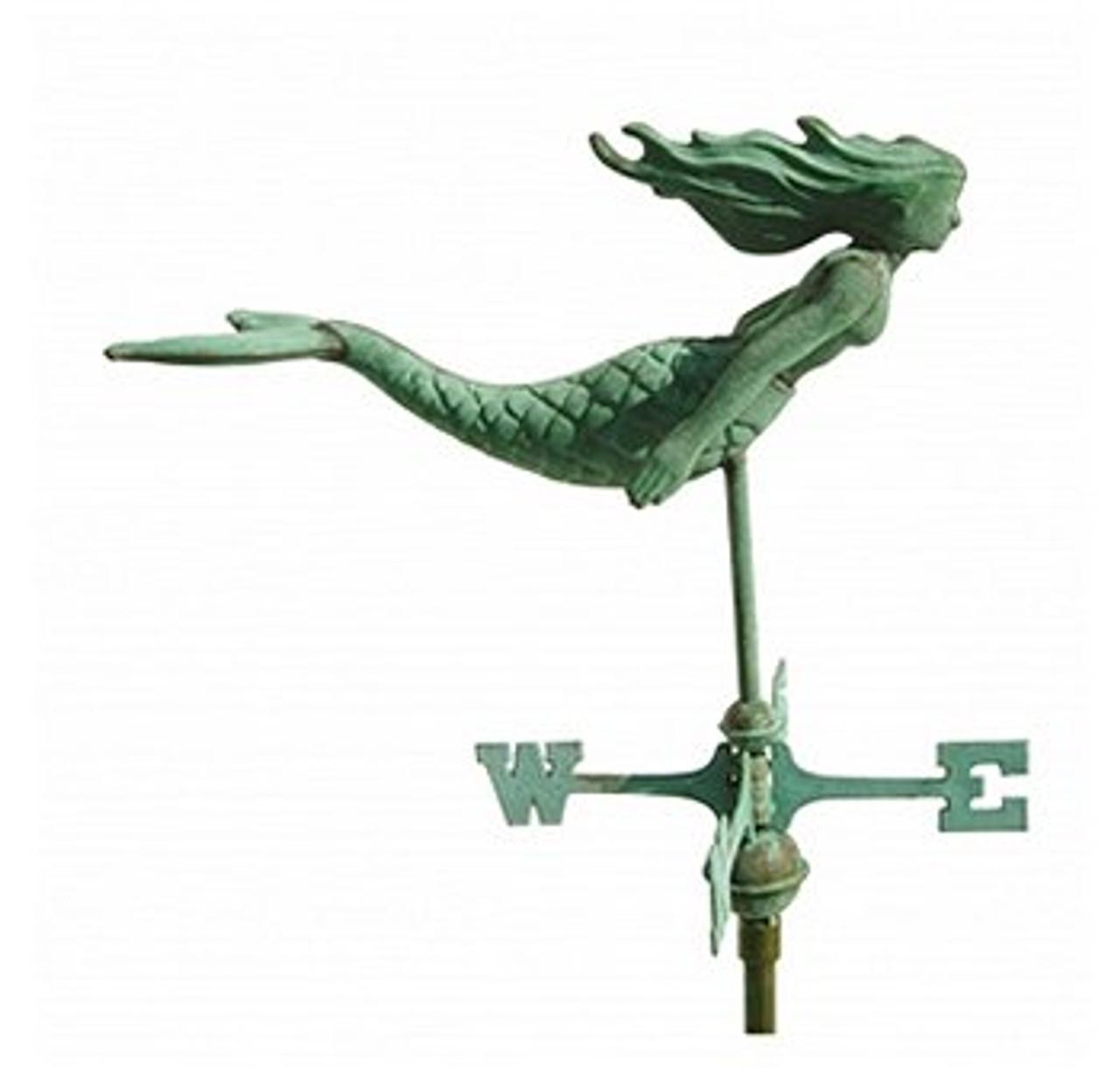 Weathervane - 3-D Cottage Mermaid