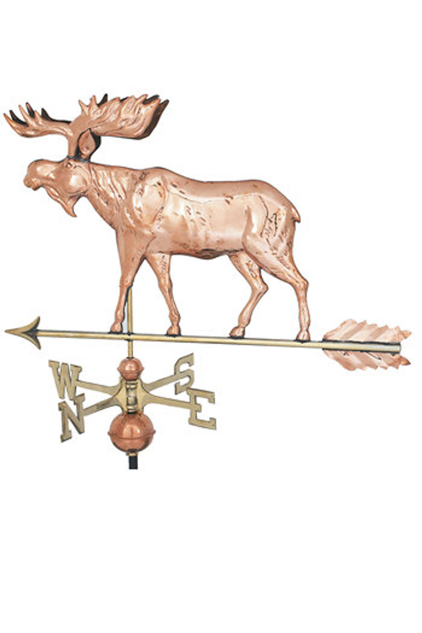 Weathervane - Moose  Polished