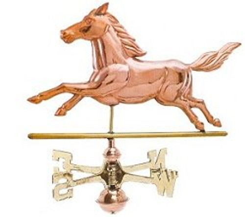Weathervane - Polished - Running Horse