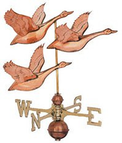 Weathervane - Polished - Flying Geese