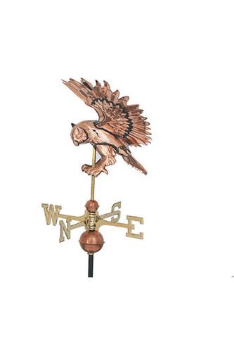 Weathervane - Polished - 3-D Flying Owl