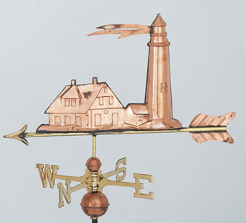 Weathervane - Lighthouse  Polished