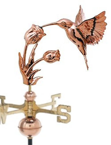 Weathervane - Polished - Hummingbird