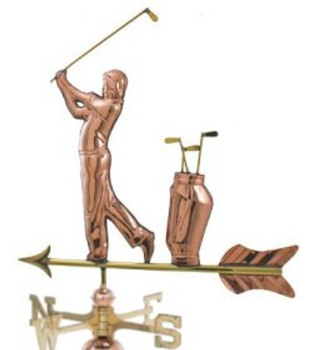 Weathervane - Polished - Golfer