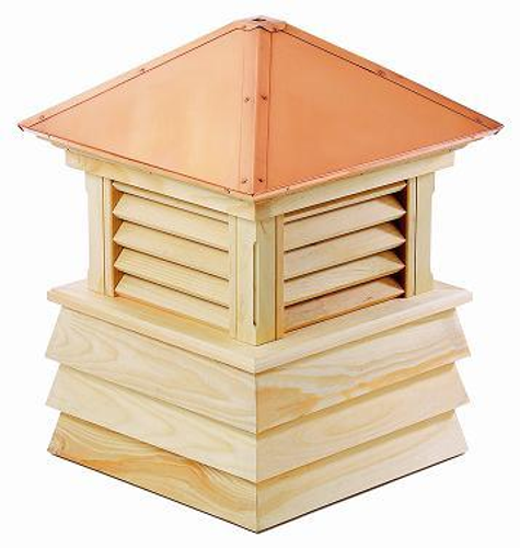 Good Directions Cypress Dover Shiplap Base Cupola - 36in. square x 48in. high