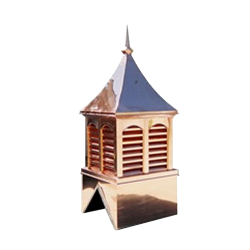 Custom Copper Cupola - Double Vented Curved Top
