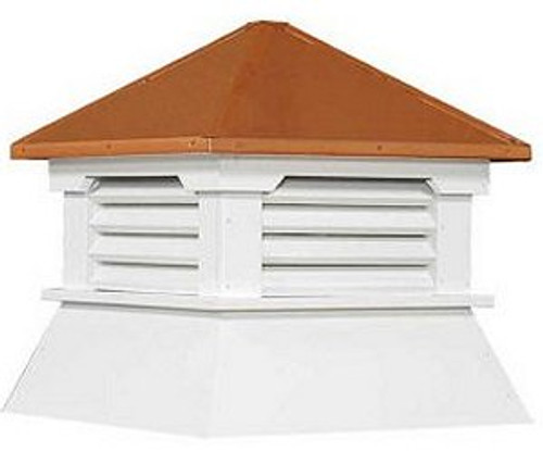 Cupola - Classic Shed: Azek - Copper Top - 30Lx30Wx36H
