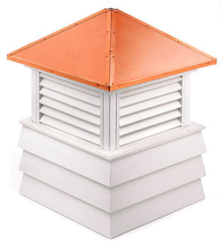 Good Directions Vinyl Dover Shiplap Base Cupola - 60in. square x 85in. high