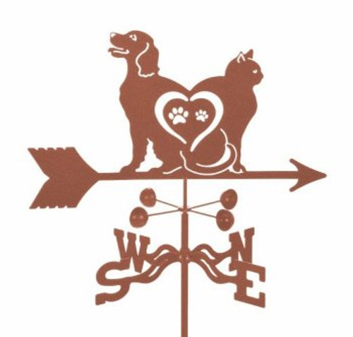 Adorable Dog and Cat Weathervane