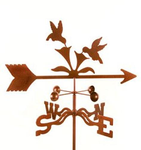 Bird-Hummingbirds Weathervane with mount