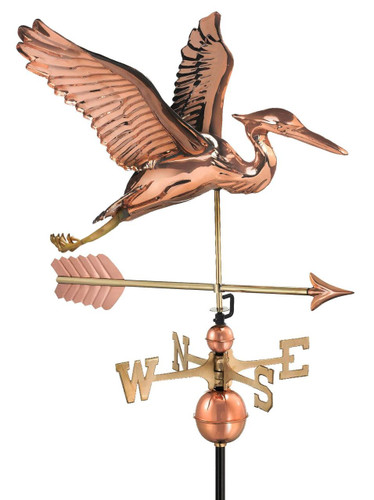 Blue Heron with Arrow Weathervane