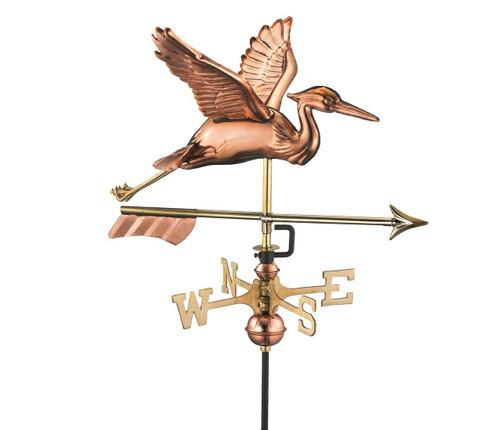 Blue Heron with Arrow Cottage Weathervane