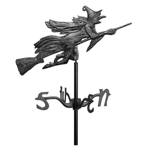 "Whitehall 24"" Flying Witch Garden Weathervane - Black"