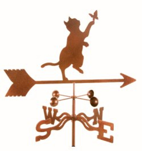 Cat & Butterfly Weathervane with mount