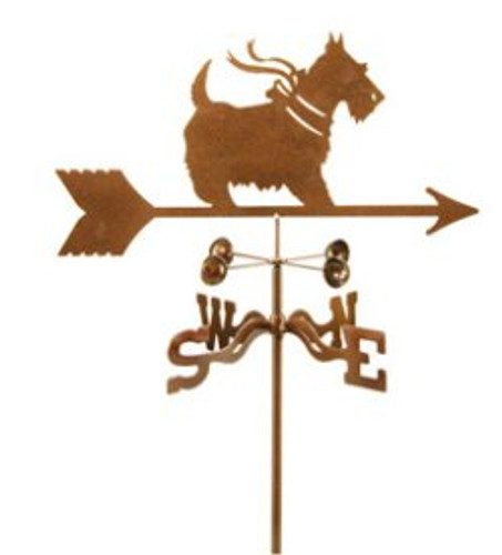 Scottish Terrier with Bow Dog Weathervane with mount