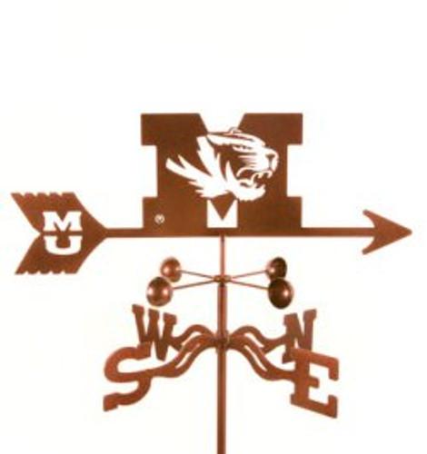 Missouri Tigers Logo Weathervane with mount