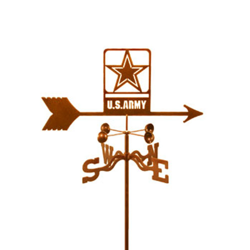 Army - Modern Logo Weathervane With Mount