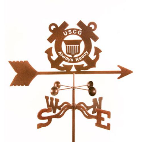 Coast Guard Logo Weathervane With Mount