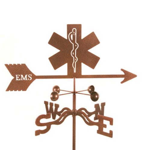 EMS Logo Weathervane With Mount