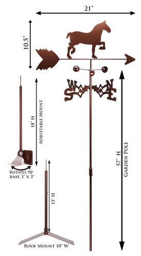 Horse - Draft Weathervane