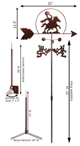 Headless Horseman Weathervane