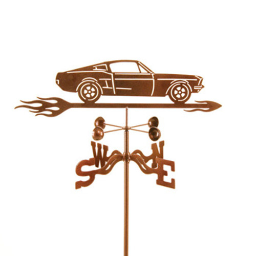 Car-67 Mustang Car Weathervane With Mount