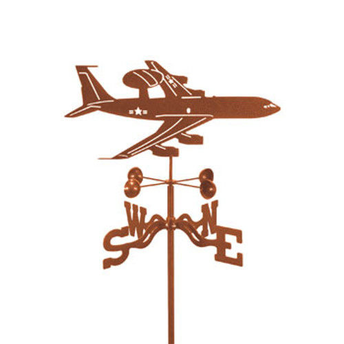 Airplane-AWACS Weathervane With Mount