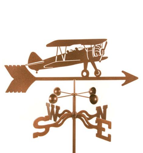 Airplane-Bi Plane Weathervane With Mount